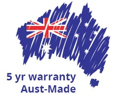 5 yr warranty aust-made
