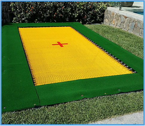 In-ground trampolines, made in Australia