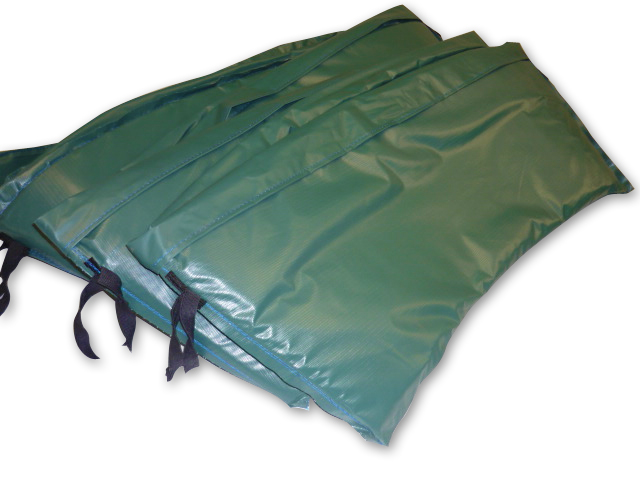 Round Spring Pads Green Pvc Material Heavy Duty