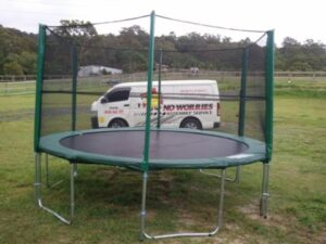 No Worries Trampoline Assembly