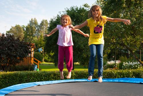 Girls Bouncing