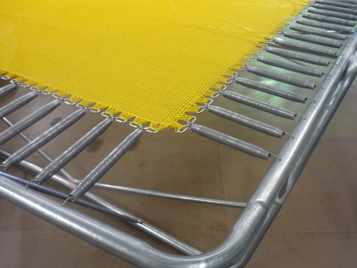 yellow mat and springs