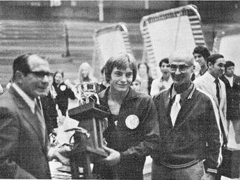 Larry Griswold, Paul Luxon and George Nissen at the 1972 Griswold-Nissen Cup
