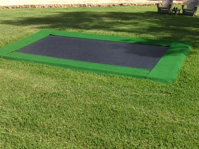 Trampolines in Australia Pro | Jumbo- frame size:   5.00 x 2.80 m